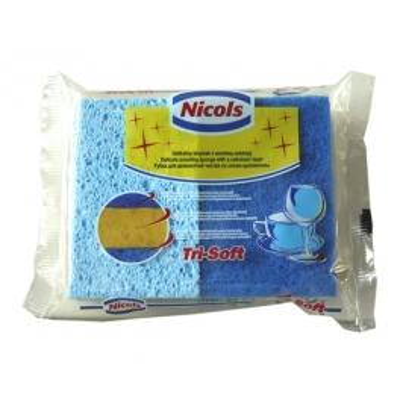 NICOLS SYNTHETIC SPONGE TRI-SOFT 3 IN 1 X 2