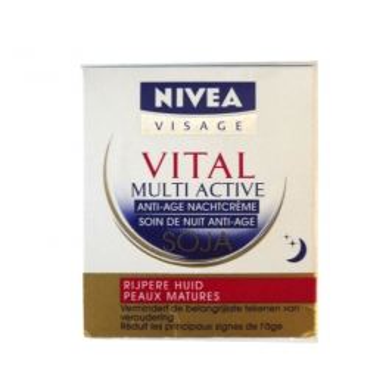 NIVEA VITAL ANTI AGE NIGHT CREAM MULTI ACTIVE SOY 50ML