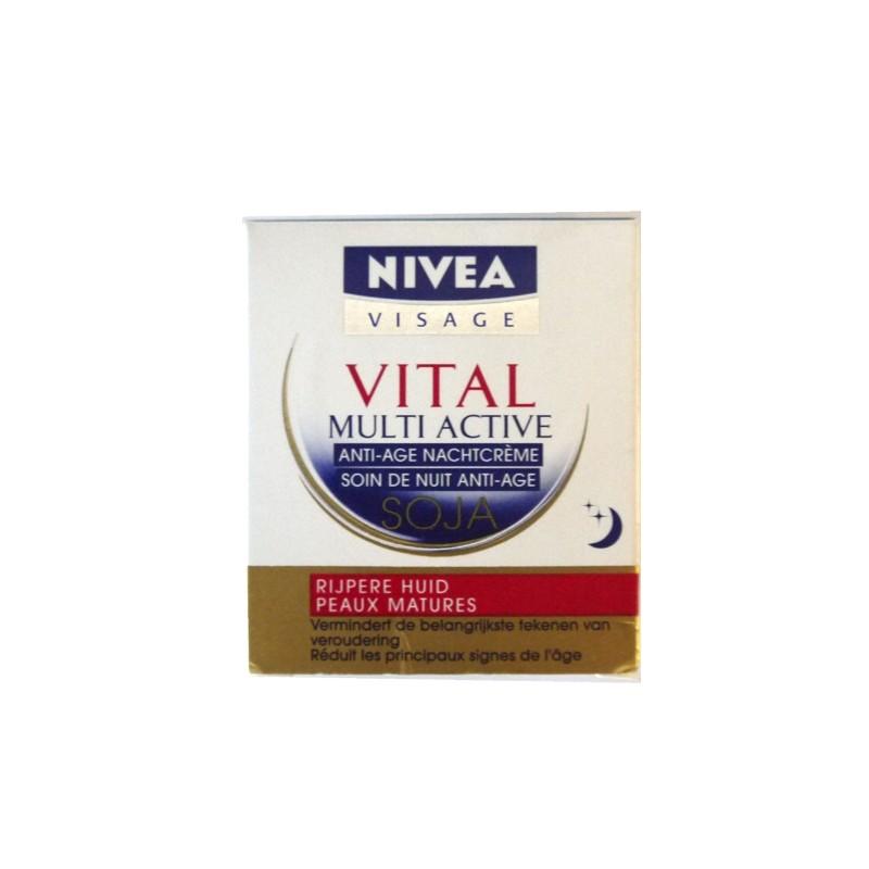 NIVEA VITAL SOIN DE NUIT ANTI AGE MULTI ACTIVE SOJA 50 ML