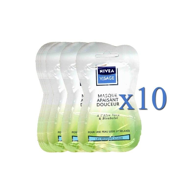 NIVEA VISAGE SOOTHING MASK ALOE VERA 15 ML X10