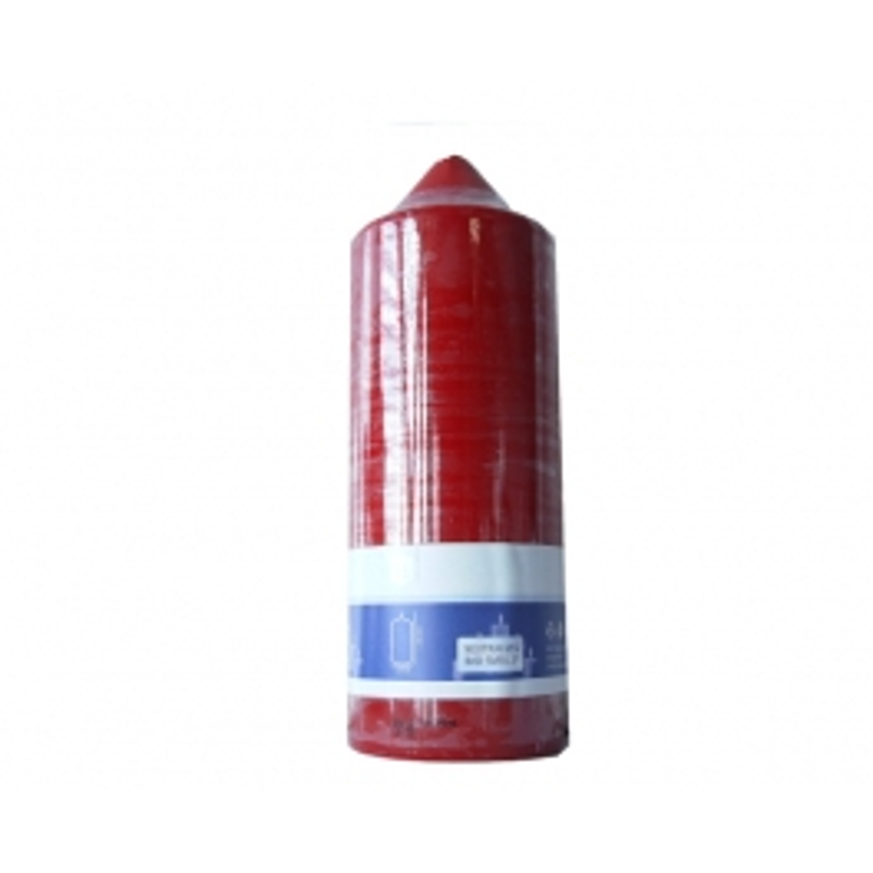 SPAAS HL-PILLAR BOUGIE 22 CM ROUGE FONCE (95 HEURES)