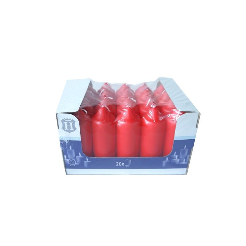 SPAAS HL-PILLAR BOUGIE 11 CM X20 ROUGE (13 HEURES)