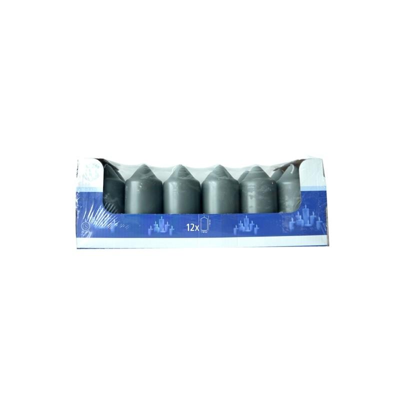 SPAAS HL-PILLAR BOUGIE 10 CM X12  GRIS (20-22 HEURES)