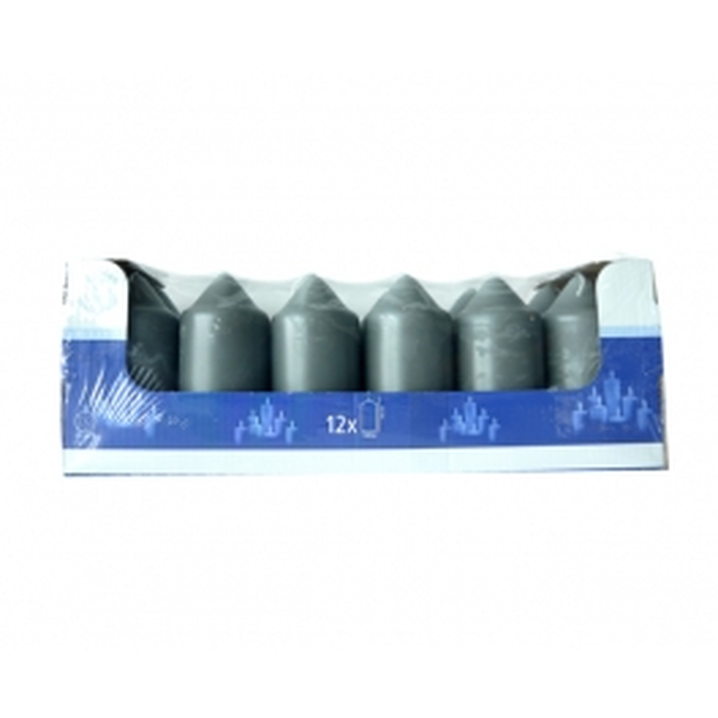 Spaas HL-Stumpenkerze 10 cm X 12 GRAU (20-22 Stunden)
