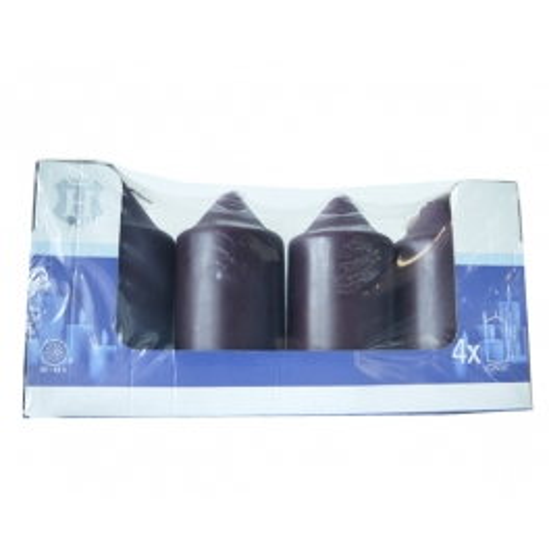 SPAAS HL-PILLAR CANDLE 15 CM X4 PURPLE (60-64 HOURS)