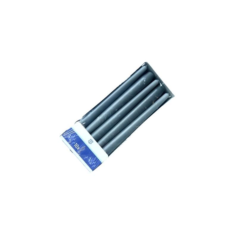 SPAAS HL-DINNER BOUGIE 24 CM X10 GRIS (7 HEURES)