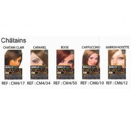 """Coloration pour cheveux """" Châtains """" Modelite"""