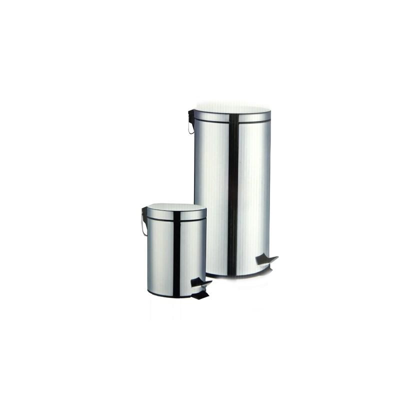 SET OF 2 STEEL PEDAL BINS (3 L & 30 L)