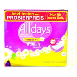 ALLDAYS INLEGKRUISJES NORMAL 58 ST  KAMILLE