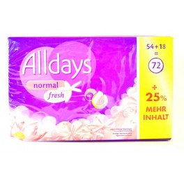 ALLDAYS PROTEGE-SLIPS NORMAL FRESH X72