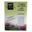 AMBI PUR PERMANENTE 2 RECHARGES POUR DIFFUSEUR COUNTRY FLOWERS
