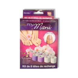 My Mani Kit 8 auswechselbare Köpfe für Nagelpflege