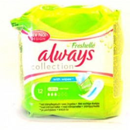 ALWAYS SERVIETTES HYGIENIQUES FRESHELLE ULTRA NORMAL X12