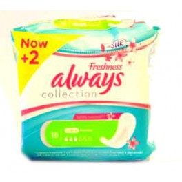 ALWAYS SERVIETTES HYGIENIQUES FRESHNESS ULTRA NORMAL X16