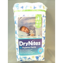 DRYNITES SLIPS ABSORBANTS POUR LA NUIT 16 PCS 4-7 JAAR