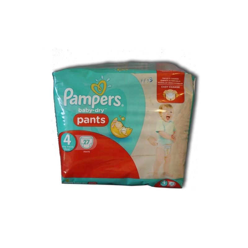 PAMPERS BABY DRY PANTS N°4 MAXI 27 PANTS (8-15 KG)