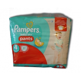 PAMPERS BABY DRY PANTS N°4 MAXI 27 PIECES (8-15 KG)