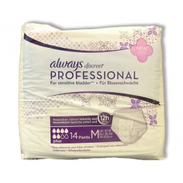 ALWAYS DISCREET PROFESSIONAL ONDERGOED VOOR URINEVERLIES PLUS MEDIUM 14ST