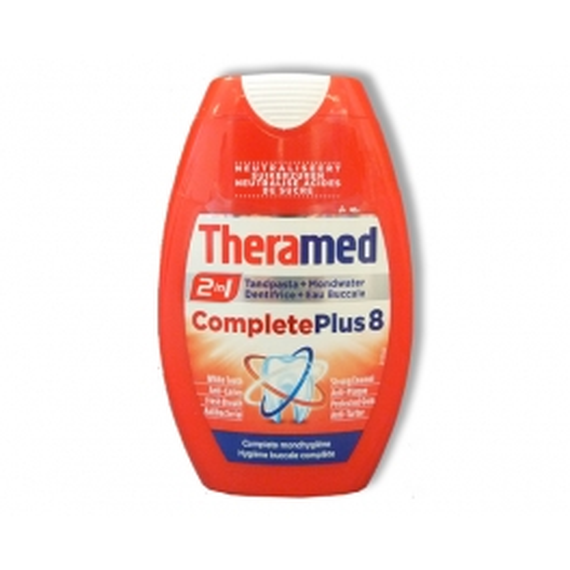 THERAMED TANDPASTA 2 IN 1 COMPLETE PLUS 8 - 75ML