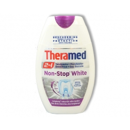 THERAMED TANDPASTA 2 IN 1 NON-STOP WHITE 75ML