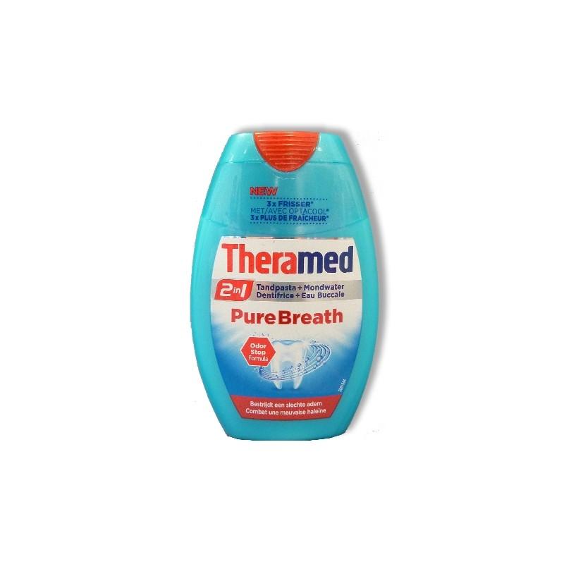THERAMED TANDPASTA 2 IN 1 PURE BREATH 75ML
