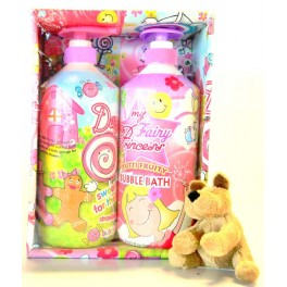 KIDS BUBBLE BATH SET GIRL PINK  2 X 710 ML
