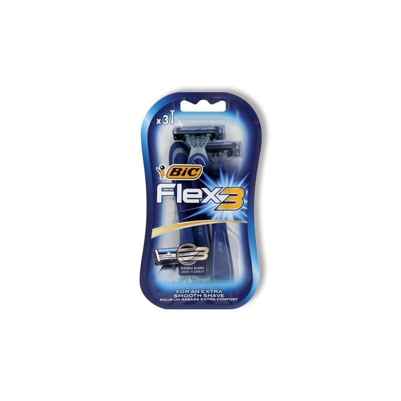 BIC FLEX3  SCHEERMESJES 3 STUKS