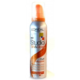 STUDIO LINE SILK & GLOSS CURL MOUSSE    150 ML