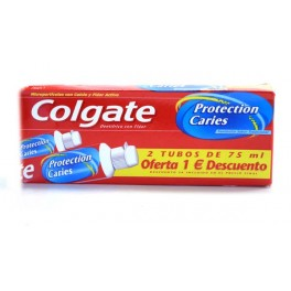 COLGATE TANDPASTA 2 X 75 ML   PROTECTION CARIES