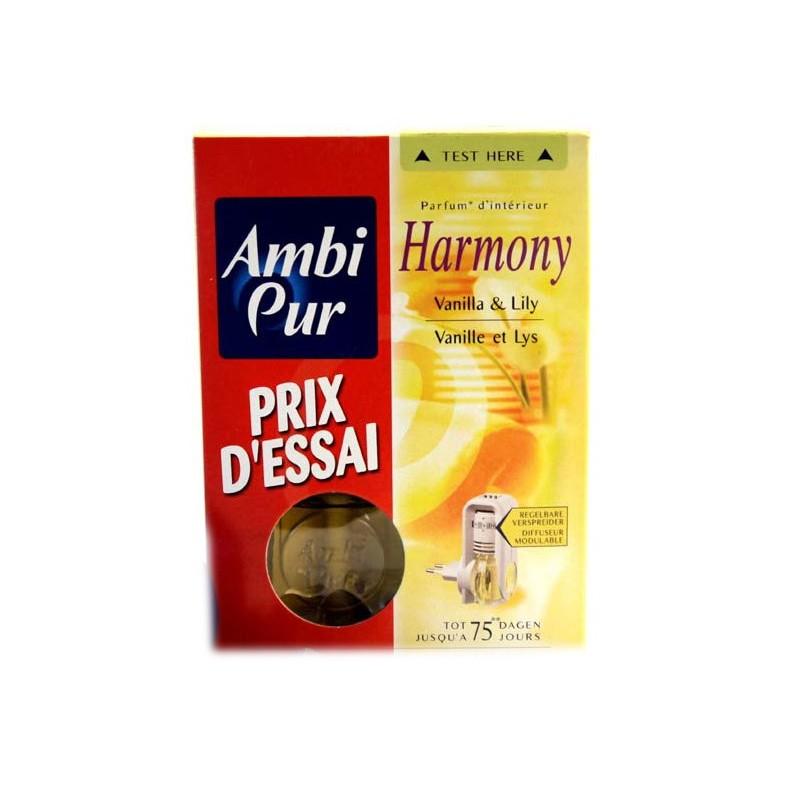 AMBI PUR DIFFUSEUR ELECTRIQUE HARMONY VANILLE ET LYS + RECHARGE