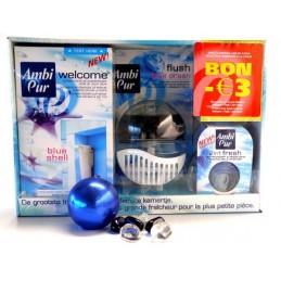 AMBI PUR DOOS WELKOM+FLUSH+2IN1FRESH BLUE SHELL